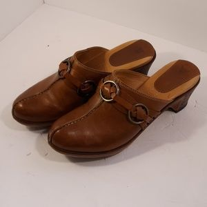 Frye Boots Clogs 9 1/2 Leather Great Shape